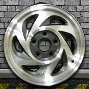 Machined Dark Charcoal Oem Factory Wheel For 1995 2002 Gmc Sonoma 4x4 15x7
