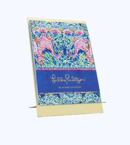 Lilly Pulitzer 2019 12 Month Desk Calendar With Gold Easel Stand New In Box