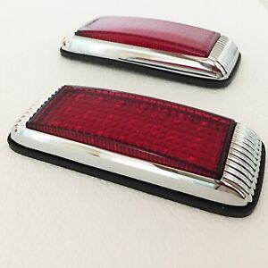 Hot Rod 1941 Ford Style Tail Lights Flush Mount With Mounting Pads 21 Led 1pr