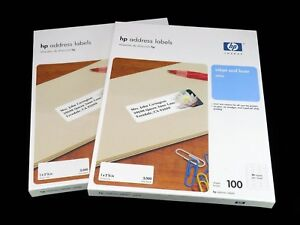 X2 Genuine Hp 3000 Address Labels Inkjet Laser white 1 X 2 5 8 In 100 Sheets