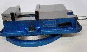 Kurt Anglock 6 Model D60 Precision Machine Vise W Swivel Base And Handle