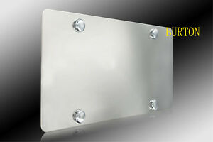 Plain Stainless Steel Heavy Metal Mirror Chrome License Plate for Acura Nissan