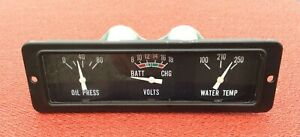 Nos 70 90 Chevrolet Impala Caprice 9c1 Police Car Gauges Oil Water Battery Volts
