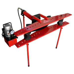 21 Ton Hydraulic 110v Electric Tube Pipe Bender Bending With 1 2 To 4 Dies