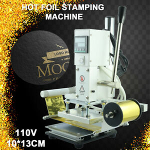 Hot Foil Stamping Machine Automatic Leather Pvc Craft Press Embossing 10 13cm Us