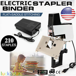 Electric Auto Stapler Flat saddle Binder Book Binding Machine 2 50 Sheets 110v