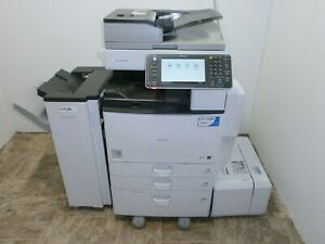 Ricoh Savin Mp 5002 Multi function B w Laser Copier Printer Scanner Fax Finisher