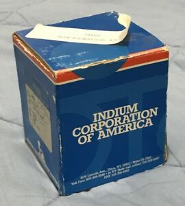 1 5 Pounds Indium Corporation 97in 3ag 97 Indium 3 Silver Eutectic Solder 030