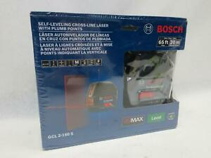 Bosch 65 Ft Self leveling Cross line Laser Level With Plumb Points gcl 2 160 S