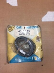 Car Antenna 40 Inch Lead 2 Male Connectors Model 470 Nos Vintage Look 24