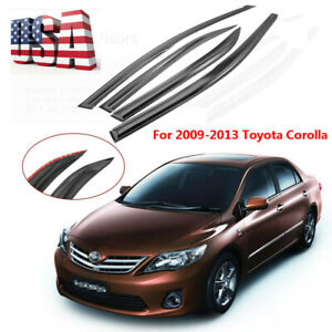 For Toyota Corolla 2009 2013 Window Visors Vent Sun Rain Deflector Guard 4pcs