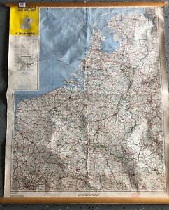 Vintage Cloth Roll Up Map1 Layer Europe Vintage Salvage Old Antique