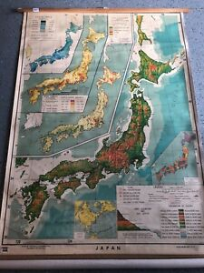 Vintage Cloth Roll Up Map 1 Layer North America Vintage Salvage Old Antique