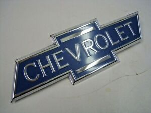 Reproduction 1936 38 Chevrolet Truck Hood Side Panel Bowtie Emblem 1937 1938 New