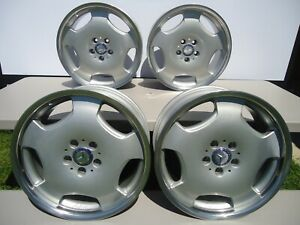 Set Of 4 Factory Mercedes Rs1 Lorinser Wheels Rims 18 Staggered