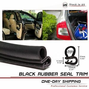 Rubber Seal Moulding Weather Strip Edge Trim Lok Auto Trunk Soundproof 240