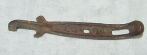 Vintage Antique Cast Iron Cs 64 Wood Coal Stove Lid Lifter Handle Collectible