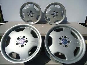 Set Of 4 Factory Amg Mercedes Monoblock Staggered Wheels Rims 17