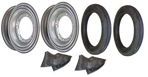 Front Rim Tire Set Ford 9n 2n Tractor With 4 X 19 Tires