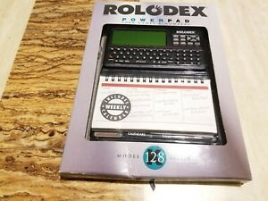 Rolodex Desktop Organizer Electronic File 128k El 2128 Powerpad 2000 Name Number