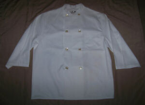 Chef Designs 8 Button Double Breasted Executive Chef Jacket Coat Shirt L Large