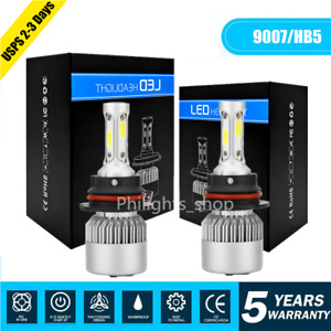 9007 Hb5 Led Headlight Conversion Kit 60w 18000lm Hi Low Beam Bulbs 6000k