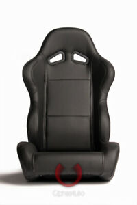 Cipher Auto Racing Seats black Leatherette Pair
