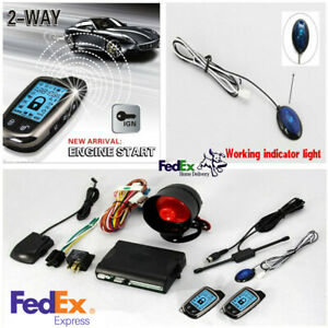 Universal 2 Way Car Alarm Security System With Long Distance Controlers Keyless