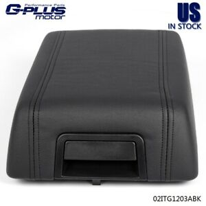 For 2004 2008 Ford F 15 Leather Center Console Arm Rest 5l3z1506024aac Black