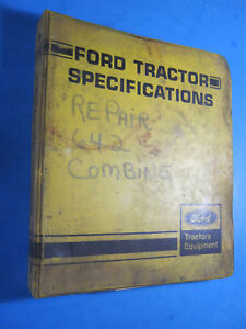 Ford 642 Combine Repair Manual Service Oem