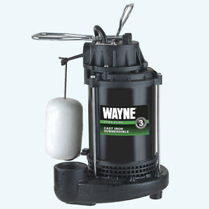 Wayne Cdu790 1 3 Hp Submersible Cast Iron And Steel Sump Pump With Integrated Ve