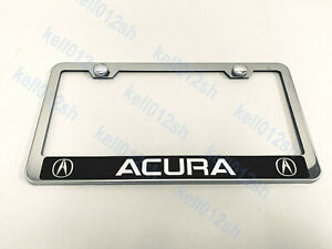 1 Pc acurareserved Style Stainless Steel Chrome License Plate Frame