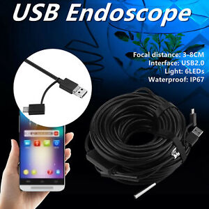 20m 5 5mm Usb Endoscope With 720p Waterproof Camera For Pipe Car Inspection Bs