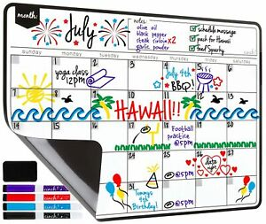 Magnetic Dry Erase Calendar For Fridge With Stain Resistant Technology 19x13