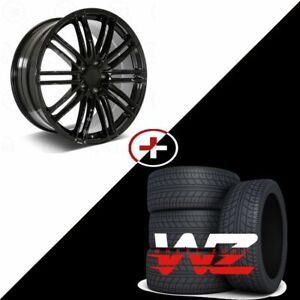 22 1350 Style Gloss Black Wheels W Tires Fits Porsche Cayenne