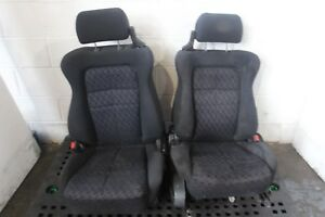 Jdm Mitsubishi 3000gt Vr4 Oem Front Cloth Seats With Rails Jdm Vr4 3000gt Gto