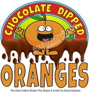 Chocolate Dipped Oranges Food Ad Concession Truck Vinyl Sticker Menu Decal