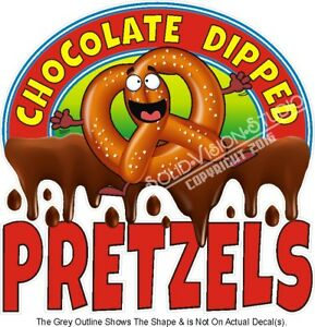 Chocolate Dipped Pretzels Food Ad Concession Truck Vinyl Sticker Menu Decal