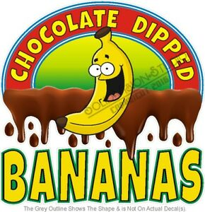 Chocolate Dipped Bananas Food Advertisement Concession Truck Vinyl Sticker Decal