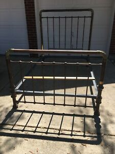Authentic Antique Brass Bed