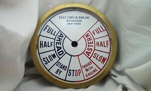 Charles Cory Son Ny Engine Order Ship S Telegraph Porcelain Faceplate Dial