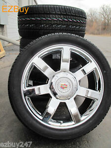 22 Cadillac Escalade Chrome New Wheels 5309 Nexen Tires 305 40 22 Gm P56 Dkj