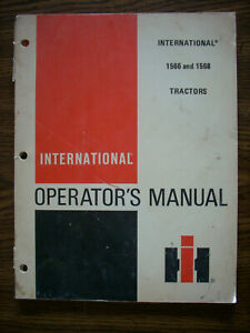 Ih Farmall International 1566 1568 Owners Manual