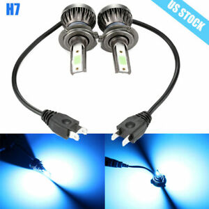 2pcs H7 Led Headlight Conversion Kit 8000k Ice Blue High Lwo Beam Bulbs Lamp Usa