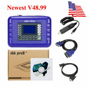 V48 99 Sbb Pro2 Car Key Programmer Multi langual Smart Remote Transponder G Chip
