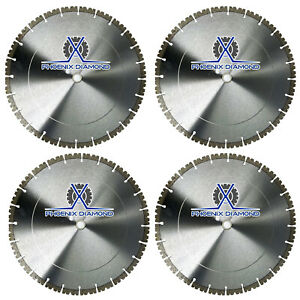 4pack 14 Concrete Diamond Blade V notch Segment Concrete Pavers 20mm Arbor