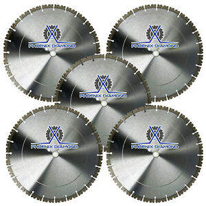 5pack 14 Concrete Diamond Blade V notch Segment Concrete Pavers 20mm Arbor