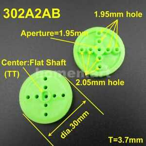 30mm A 2mm 1 95mm Plastic Gear Single Groove Pulley Wheels Dia 30mm Th 4mm Green