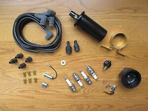Complete Ignition Tune Up Kit Set Coil Ih Farmall 330 340 350 400 404 242 444