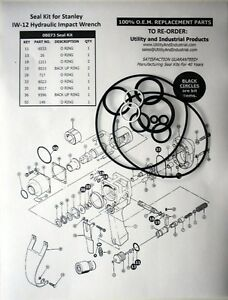 Seal Kit Stanley Iw 12 Hydraulic Impact Wrench Seal Kit No 08073